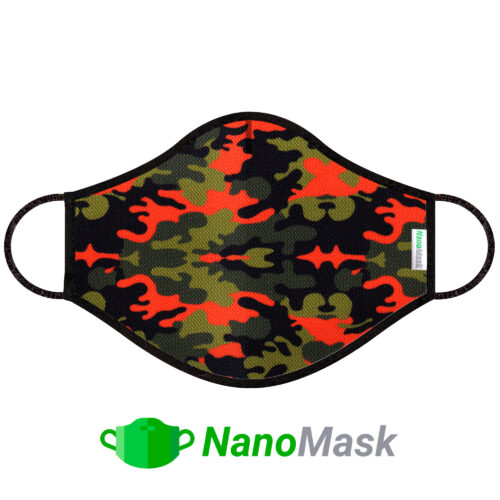 Mascarilla NanoMask Camuflaje rojo