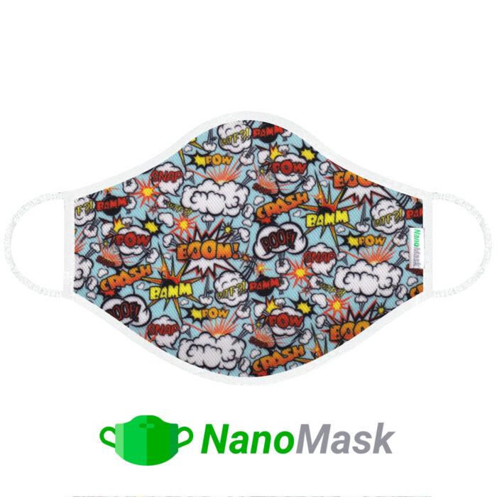 Mascarilla NanoMask Comic Boom
