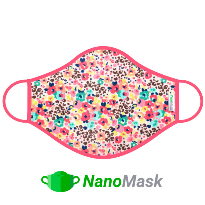 Mascarilla NanoMask Flores Color